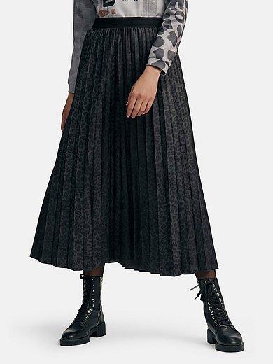 Margittes - La jupe plissée à ceinture élastiquée unie