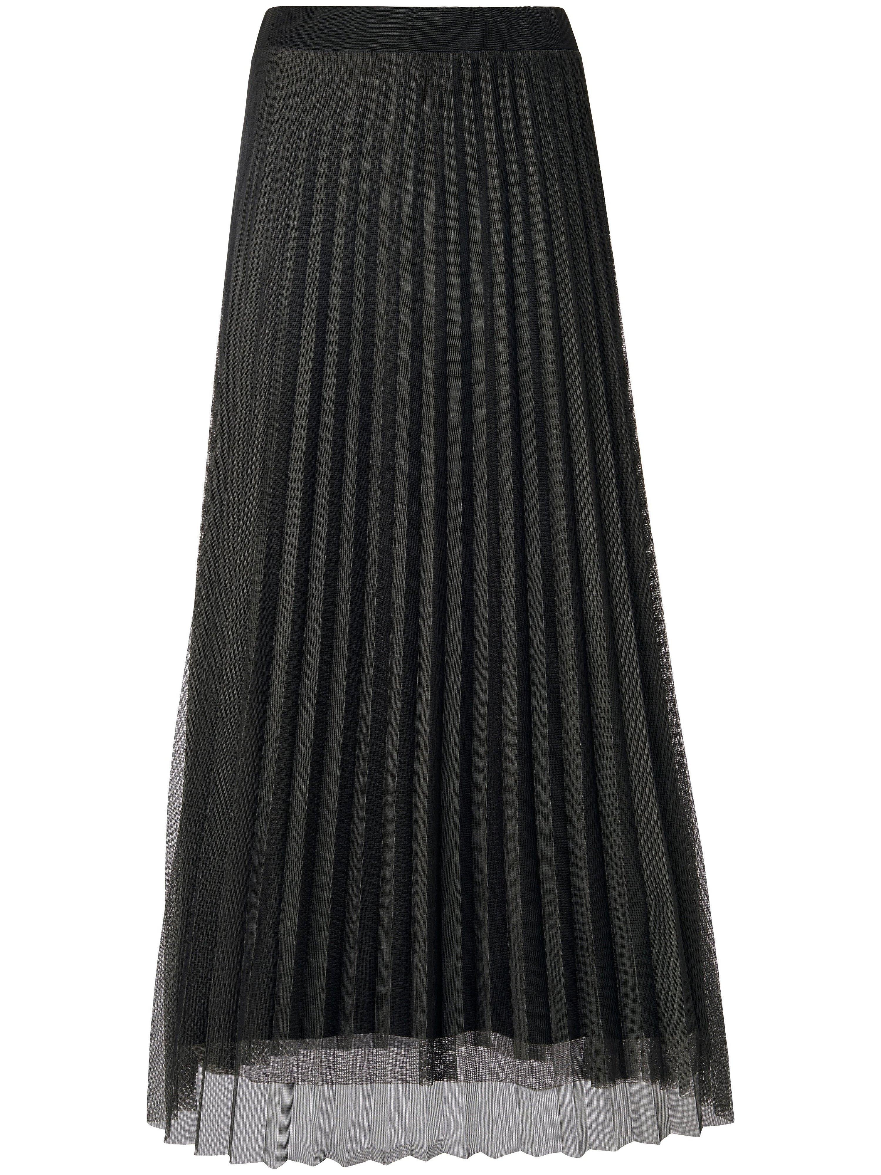 Lange plissérok Van Margittes grijs